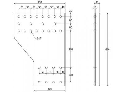 SIVULEVYPR DL K610XL270 B190 50-60 2KPL